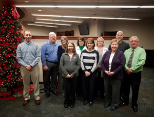 Group photo of BSB employees who reached years of service milestones.
